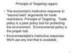 principle of targeting again