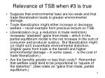 relevance of tsb when 3 is true