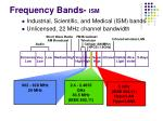 frequency bands ism