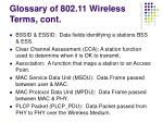 glossary of 802 11 wireless terms cont