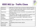 ieee 802 1 p traffic class