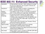 ieee 802 11i enhanced security