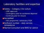 laboratory facilities and expertise