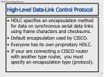 high level data link control protocol