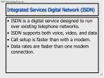 integrated services digital network isdn