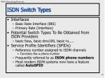 isdn switch types