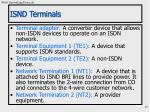 isnd terminals