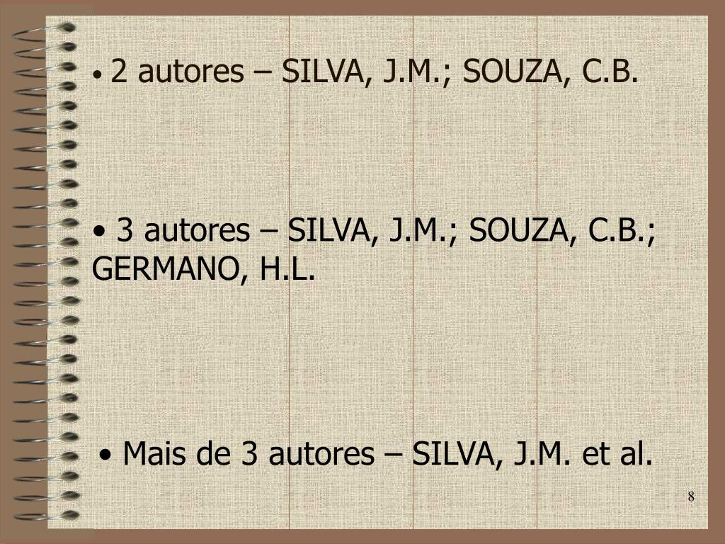 2 autores – SILVA, J.M.; SOUZA, C.B.