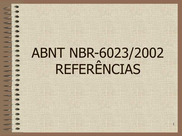 Abnt nbr 6023 2002 refer ncias