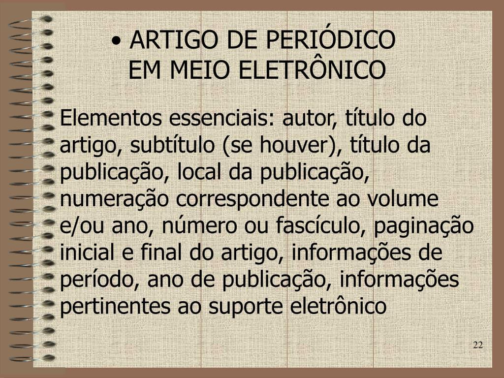 ARTIGO DE PERIÓDICO