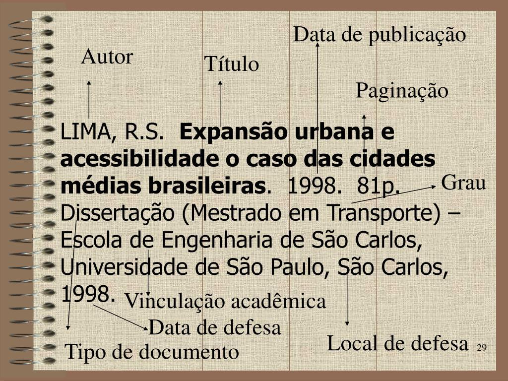 Data de publicação