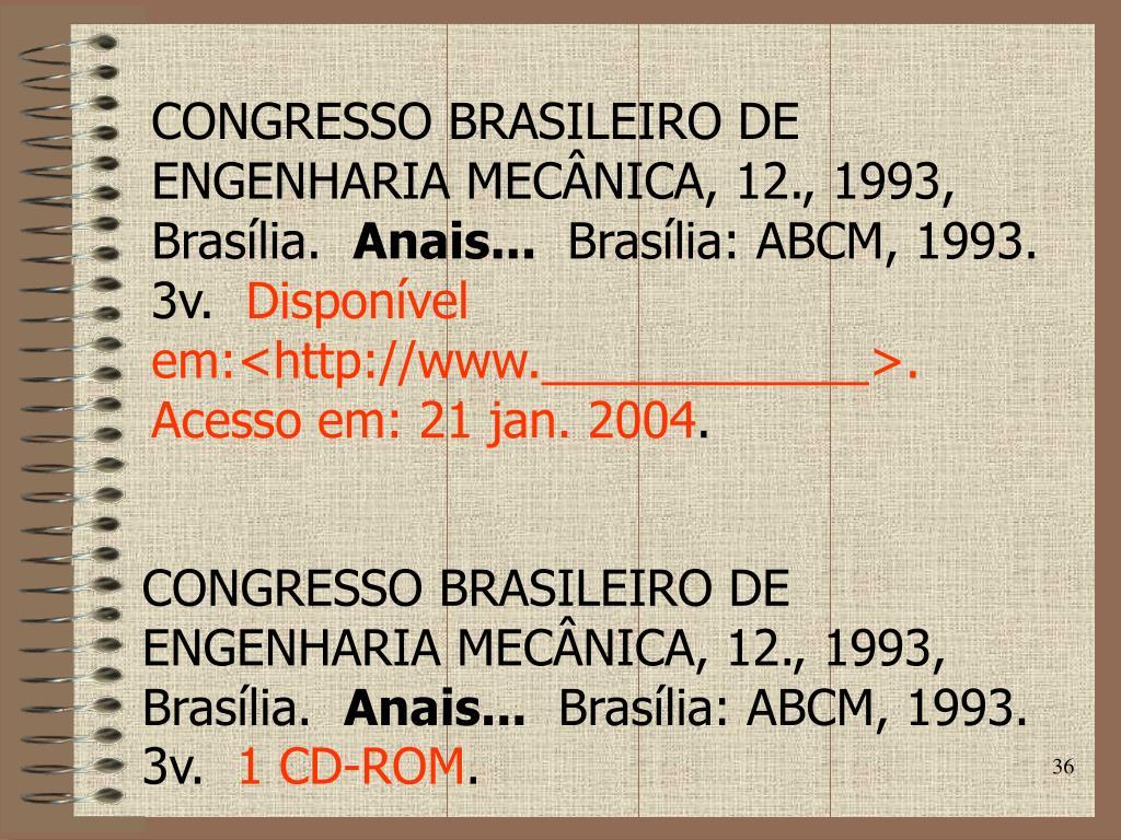 CONGRESSO BRASILEIRO DE ENGENHARIA MECÂNICA, 12., 1993, Brasília.