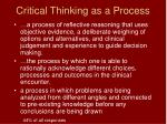 critical thinking as a process