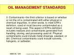 oil management standards13