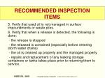 recommended inspection items56