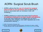 aorn surgical scrub brush