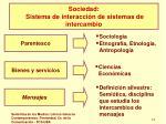 sociedad sistema de interacci n de sistemas de intercambio