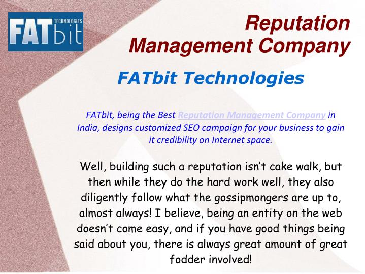 Reputation management company2