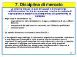 7 disciplina di mercato