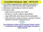 accordo basilea 1988 criticit