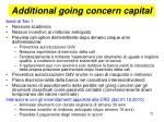 additional going concern capital