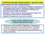 ampliamento perimetro regolamentazione agenzie di rating