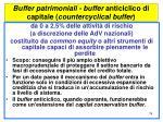 buffer patrimoniali buffer anticiclico di capitale countercyclical buffer