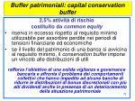 buffer patrimoniali capital conservation buffer