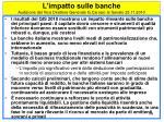 l impatto sulle banche audizione del vice direttore generale g carosio al senato 23 11 2010