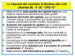 la risposta del comitato di basilea alla crisi basilea iii ue crd iv