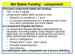 net stable funding componenti