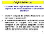 origini della crisi