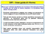 sifi linee guida di riforma97