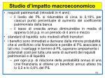 studio d impatto macroeconomico