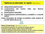 vigilanza prudenziale le regole tub art 53 co 1