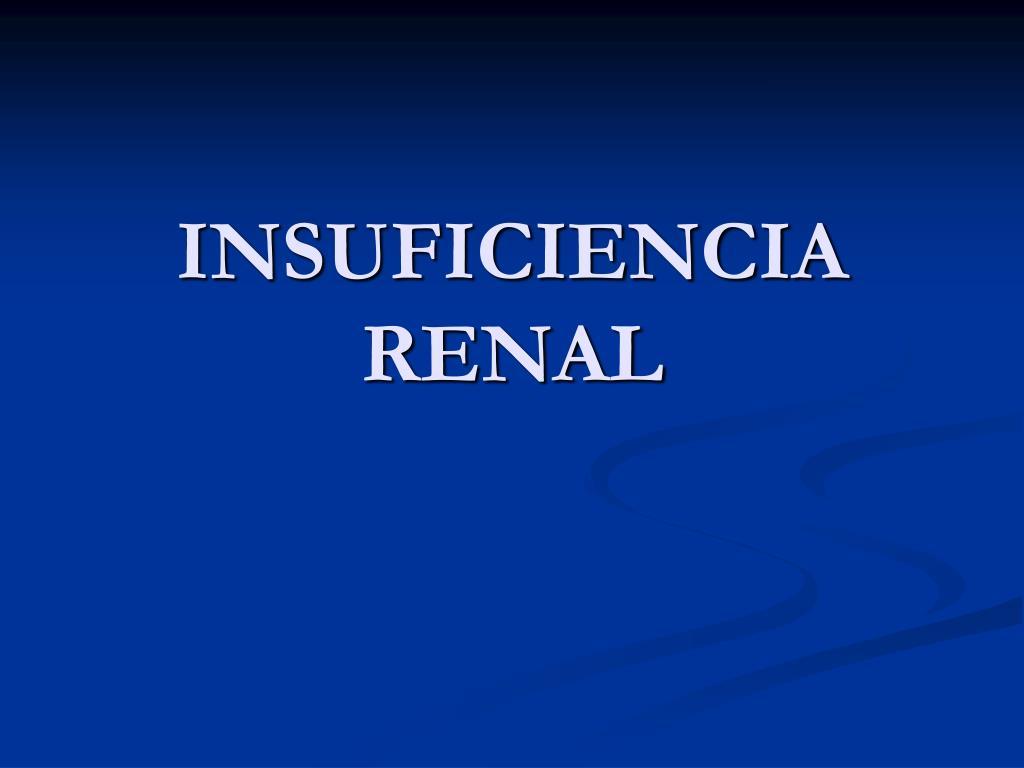 insuficiencia renal l.