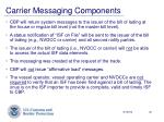 carrier messaging components