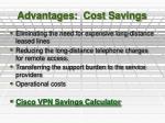 advantages cost savings