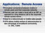 applications remote access