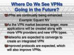 where do we see vpns going in the future