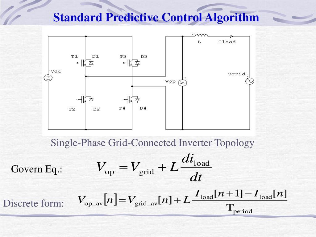 Standard Predictive Control Algorithm