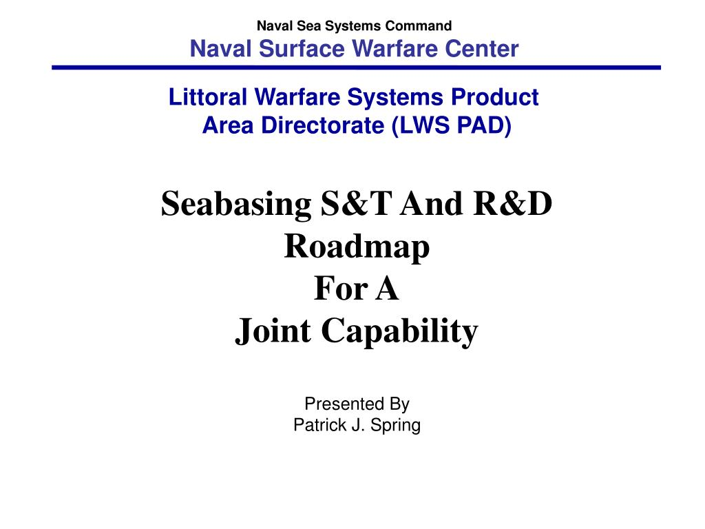 naval sea systems command naval surface warfare center l.