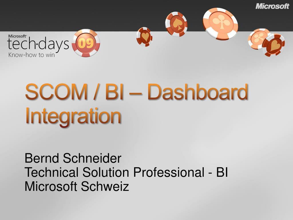 scom bi dashboard integration l.