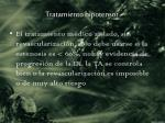 tratamiento hipotensor