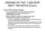 origins of the 1 000 ship navy initiative cont