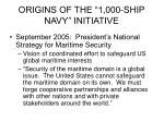 origins of the 1 000 ship navy initiative