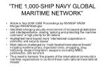 the 1 000 ship navy global maritime network