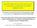 transformation technology a canadian maritime security perspective