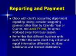 reporting and payment
