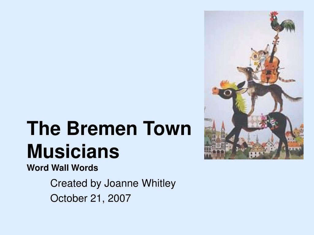 the bremen town musicians word wall words l.